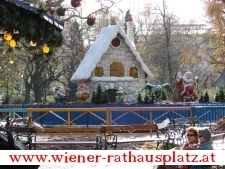 Winterdorf am Christkindlmarkt am Rathausplatz